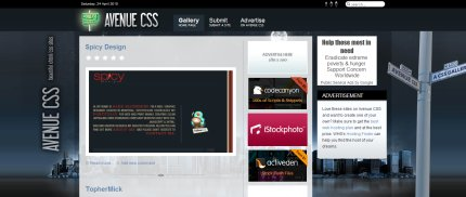 avenuecss homepage