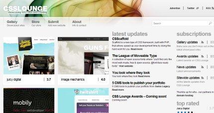 CSS lounge homepage