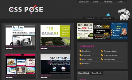 csspose homepage