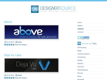 designersource homepage