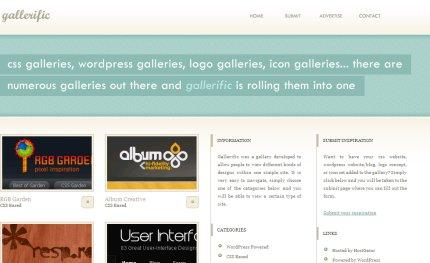 gallerific homepage