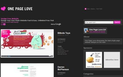 onepagelove homepage