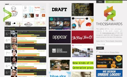 thecssawards homepage