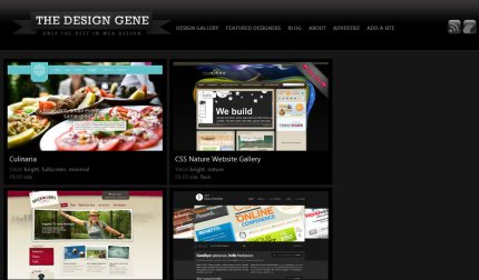 thedesigngene homepage
