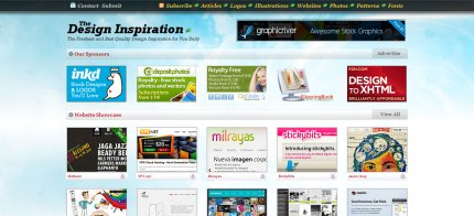 thedesigninspiration homepage